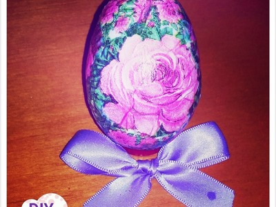 Decoupage easter eggs roses decorations DIY craft ideas tutorial. URADI SAM Dekupaž