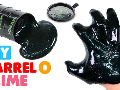 DIY Barrel O Slime with Shampoo - MonsterKids