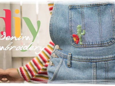 DIY DENIM EMBROIDERY | Free People Inspired