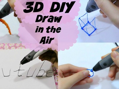 DIY: Draw on the Air | Draw 3D Objects&Letters | The DIY Challenge
