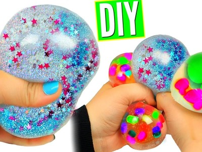 DIY Liquid Squishy Balls! Orbeez & Glitter Liquid Stress Balls!