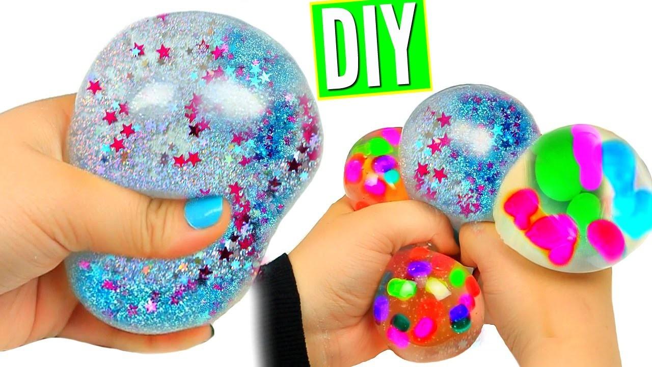 diy liquid squishy balls orbeez glitter liquid stress. Black Bedroom Furniture Sets. Home Design Ideas