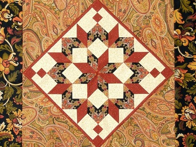 Dutch Rose, Carpenter's Wheel quilt video by Shar Jorgenson