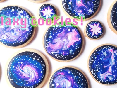How To Decorate Galaxy Cookies With Royal Icing!