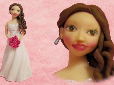 How to make a Bride out of fondant cake topper fimo clay figurine