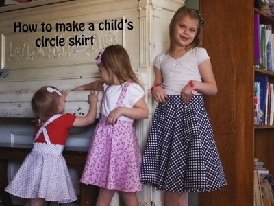 How to make a child's circle skirt