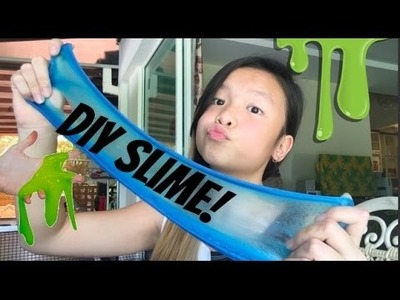 HOW TO MAKE SLIME! ( WITHOUT BORAX, LIQUID STARCH OR LAUNDRY DETERGENT!)