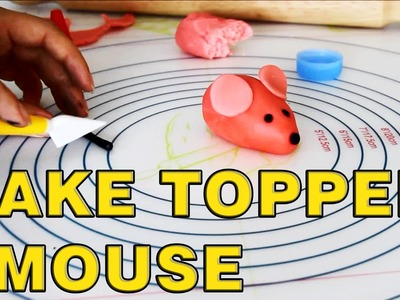 How to make Sugar Paste Fondant Mouse Cake Toppers | HappyFoods