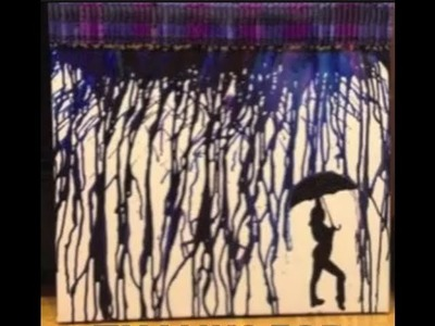 MELTED CRAYON ART RAIN :)