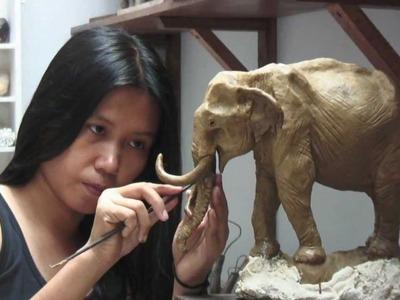 'Oom Chakawan' Thai Elephant Sculpture (English.short version)