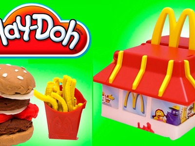 Play Doh McDonald's Restaurant Playset Mold Burgers Fries McNuggets