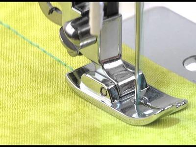 SINGER® Straight Stitch Narrow Presser Foot Tutorial