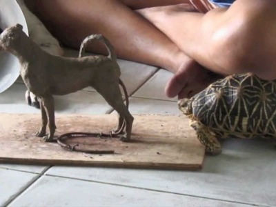 'Spot the Dog' - Clay Sculpture Step by Step - K. Barton, artist