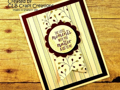 2016 Stampin' Up! Sale-a-bration Flowering Fields Card 2