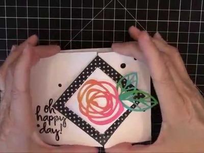 Bold Blossoms Interactive Fun Fold Card by Karolyn Loncon