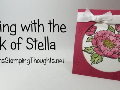 Coloring with Wink of Stella and Birthday Blooms stamp set from Stampin'Up!