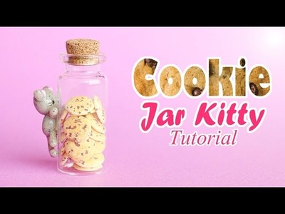 Cookie Jar Kitty │ Polymer Clay Bottle Charm Tutorial