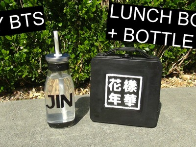 DIY BTS LUNCH BOX + BOTTLE! | PrettyPrinceJin