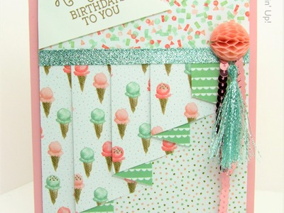 Drapery Pleat Fold Card Birthday Bouquet Stampin' Up! UK