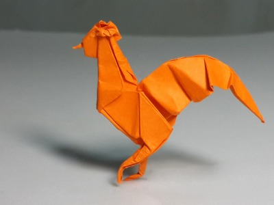 Easy Origami Rooster tutorial (Henry Phạm)