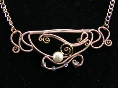 Filigree Teacup Wire Wrap Necklace Tutorial.Demo