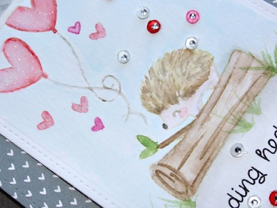 How to create a watercolor look with stamps