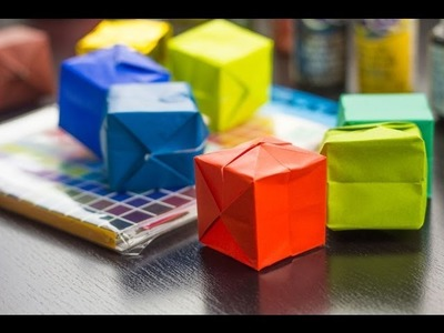 How To Make An Origami Box (water bomb)