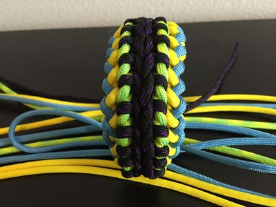 "How to make: ""JLove's Switchback Sanctified"" Paracord Bracelet"