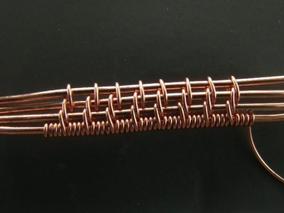 """""""Spikes"""" Weaving Pattern Tutorial, 4 Base Wires"""