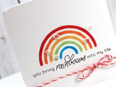 Stenciled Rainbow - March 2014 Card Kit