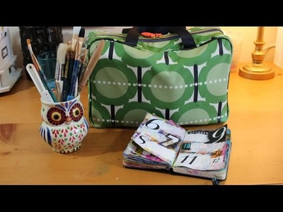 Travel Art Journal Kit :: What to pack in your traveling art studio