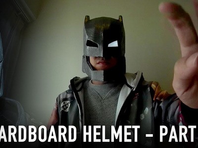 #115.2: Armored Batman Mech Suit Helmet Pt.2 - Papermache & Paint | Costume How To | Dali DIY