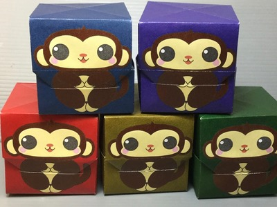 2016 Monkey Origami Gift Box Print Your Own