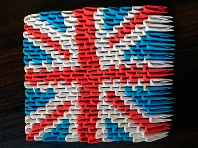 3D origami British Flag Tutorial