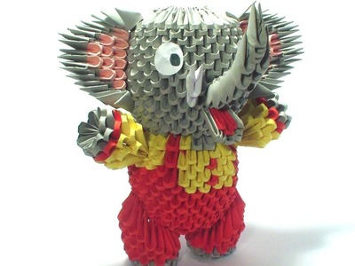 3D origami circus elephant tutorial