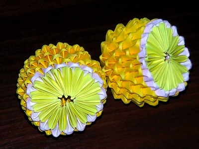 3D origami lemon (tutorial, instructions)
