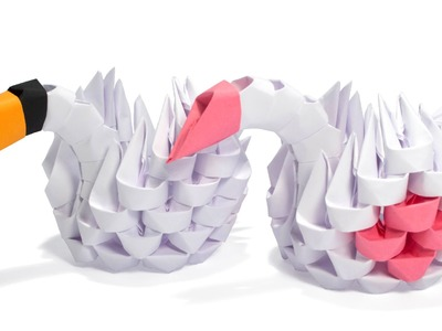 3D Origami Simple Swan Tutorial