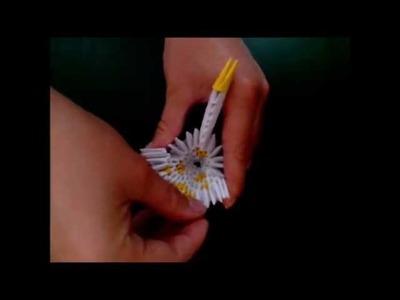 3D Origami Small Peacock-Tutorial-Kleiner Pfau