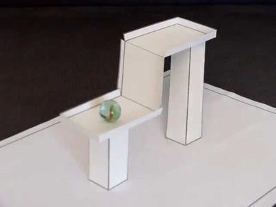 3D Paper Illusion - Impossible Gravity Illusion - 2