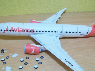 Avianca 787-8 Dreamliner Papercraft