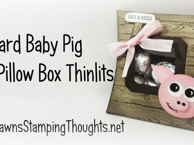 Barnyard Baby Pig Square Pillow Box with Dawn
