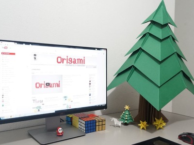 Big Origami Christmas Tree - Time-lapse