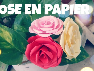 Comment faire une ROSE en papier (Tres facile)