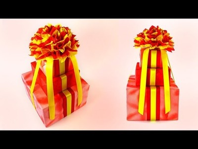 Cute Three-tier Birthday Cake Gift Wrapping