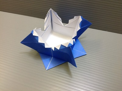 Daily Origami: 038 - Zig Zag Box or Spanish Box