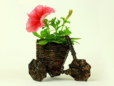 DIY Bicycle Flower Pot Holder