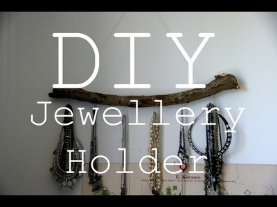 DIY Jewellery Branch. Boho Room Decor
