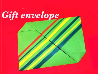 Easy Origami Gift Envelope . Money envelope