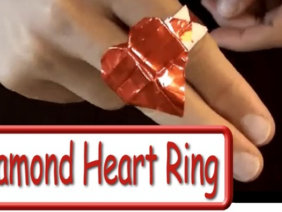 Fold an Origami Diamond Heart Ring! Designed by Jeremy Shafer