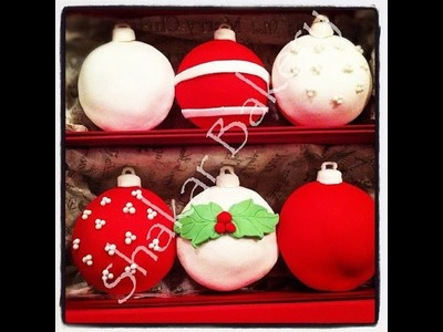 Fondant Christmas Ornament Bauble Cupcake Tutorial: Cake Decorating For Beginners